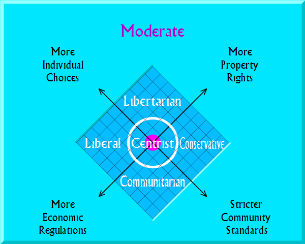 Moderate on political map